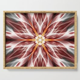 Burning hot electric flower Serving Tray