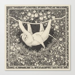 I am not a hammock, egret.  :-( Canvas Print