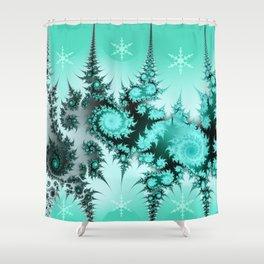 Winter magic in soft blue Shower Curtain
