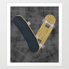 V for skateboard Art Print