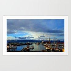Huskavik Iceland Art Print