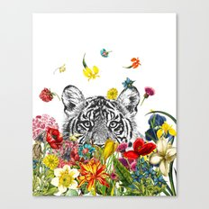 Happy Tiger Canvas Print