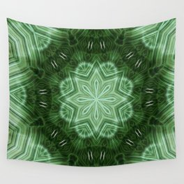 Green Stripes Kaleidoscope 2 Wall Tapestry
