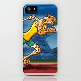 Olympic Runner Cheetah iPhone Case