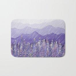 Purple Mountain Rain Bath Mat