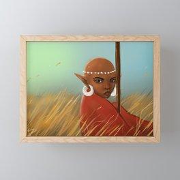 African Elf in Tall Grass Framed Mini Art Print