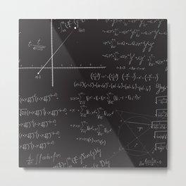 Mathematical seamless pattern Metal Print