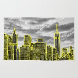 high as a skyscraper Rug