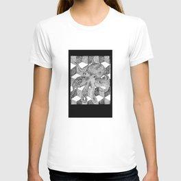 Floating Octopus design as mini camera film T-shirt