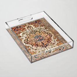 Ferahan Arak  Antique West Persian Rug Print Acrylic Tray