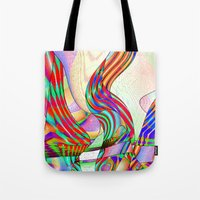techno Tote Bags featuring techno-doodle by David  Gough