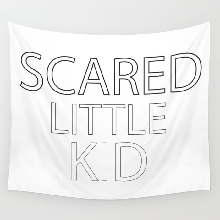 Scared Little Kid Wall Tapestry