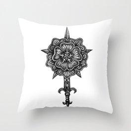 House Rosewood Throw Pillow