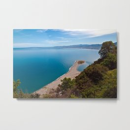 White Lagoon of Tindari on the Isle of Sicily Metal Print