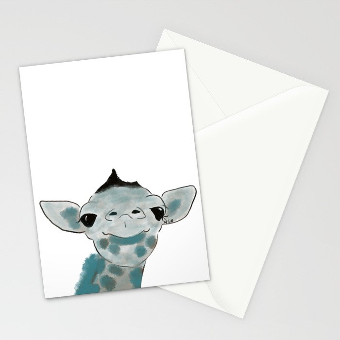 Happy Baby Giraffe Stationery Cards