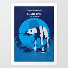 No819 My One minimal movie poster Art Print