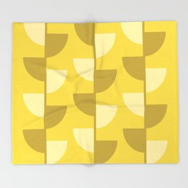 Lemon Slices in the Summer Sun Throw Blanket