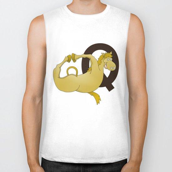 Monogram Q Pony Biker Tank