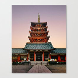 Five-Storied Pagoda at Sensoji Temple Fine Art Print Canvas Print
