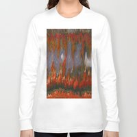 agate Long Sleeve T-shirts featuring Christmas Tree Plume Agate by The Agate Hunter