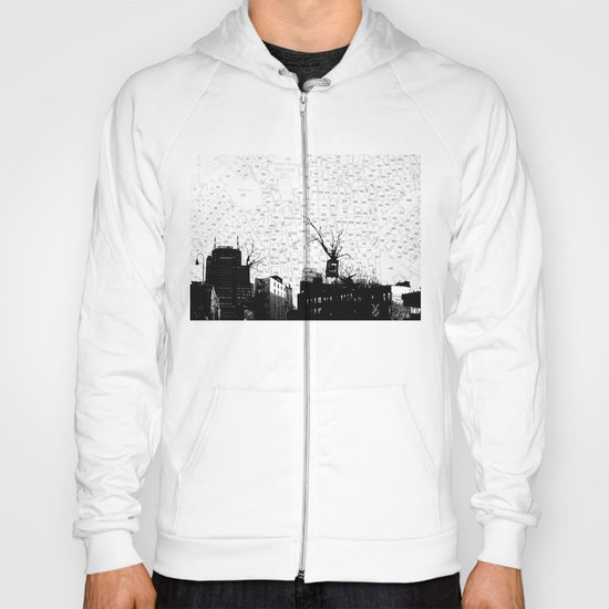 NYC splatterscape Hoody