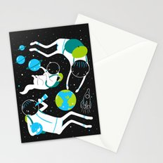 A Day Out In Space - Black Stationery Cards