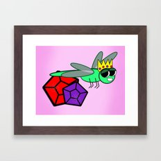 The Queen Bug  Framed Art Print