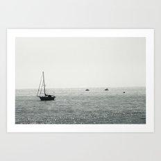 Out At Sea Art Print