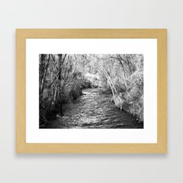 Dividing line Framed Art Print