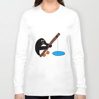 fishing Long Sleeve T-shirts featuring Fishing by Kakida Lily