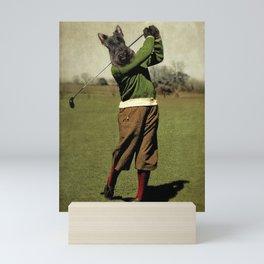 Fore Caddie - Scottie Dog Mini Art Print