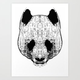 Patterned Panda Art Print