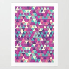 Seamless Colorful Triangle Patterns,Textures Abstract Design Art Print