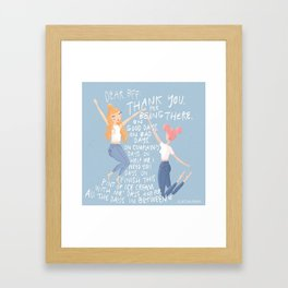 Dear BFF Framed Art Print