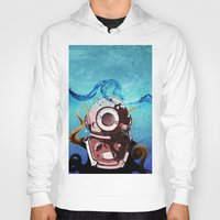 diver Hoodies featuring Diver by Tony Vazquez