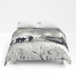 New York City Snow Bryant Park Comforters