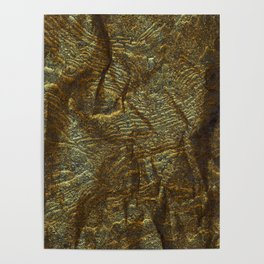 Gold and copper glitter wall Poster