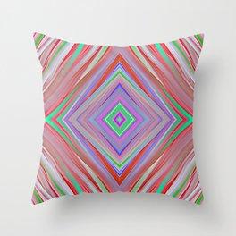 Rainbow diamond shape print Throw Pillow