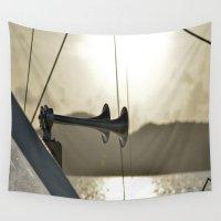 sailboat Wall Tapestries featuring Sailboat Horn by Joe Mullikin