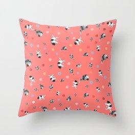 Calico Print Throw Pillow