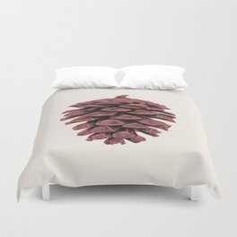 Red Pine Cone Duvet Cover