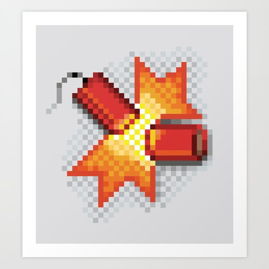 Pixel Boom Art Print