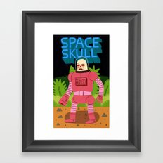 Space Skull Framed Art Print