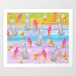 ICE CREAM WEIM Art Print