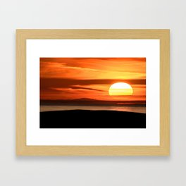 Isle of Anglesey View of Ireland Mountains Sunset Framed Art Print
