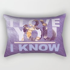 Star Wars Han and Leia I love you, I know Rectangular Pillow