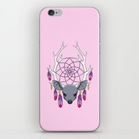 dreamcatcher iPhone & iPod Skins featuring Dreamcatcher by Freeminds