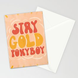 Stay Gold - Retro, Quote, Lettering  Stationery Cards