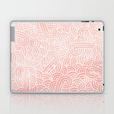 Rose quartz and white swirls doodles Laptop & iPad Skin