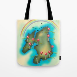 Islay Scotland map travel poster. Tote Bag